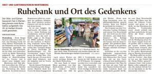 Bank für Herbert Kroschwald 03.07.2018