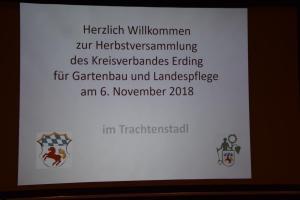 Herbstversammlung des Kreisverbandes in Wartenberg