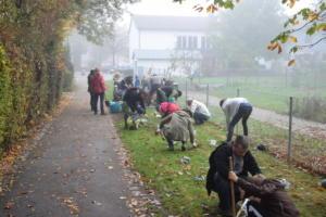 Unsere Helfer am Pfarrkindergarten.